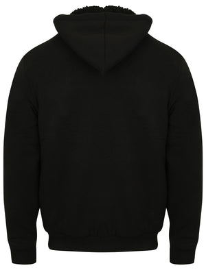 Vadim Zip Through Hoodie with Borg Lining in Black – Dissident
