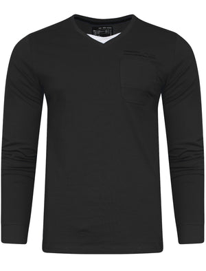 Veyer Mock T-Shirt Insert Long Sleeve T-Shirt in Black – Dissident