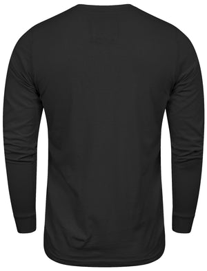 Mock T-Shirt Insert Long Sleeve T-Shirt in Black – Dissident