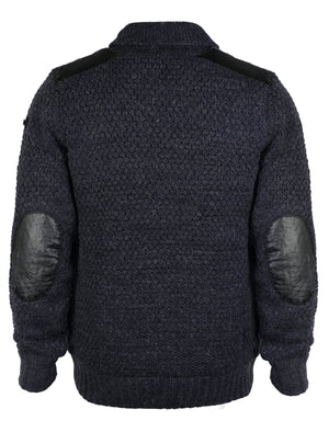 Dissident Zaine wool blend cardigan in Dark Denim