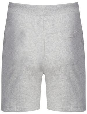 Mens Jeremy Sweat Shorts with Pockets in Grey Marl