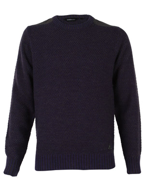 Dissident Gatton Crew Neck Sweater in Blackcurrant