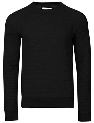 Mens Nicholas Triangle Quilt Sweatshirt in Black