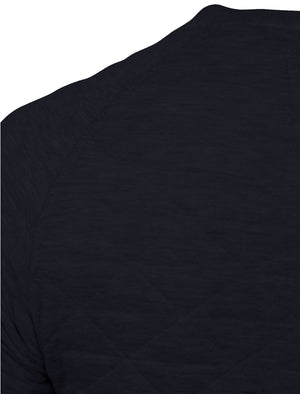 Mens Nicholas Triangle Quilt Sweatshirt in Navy