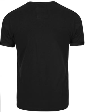Freddy Destroyed Ripped Front T-Shirt in Black