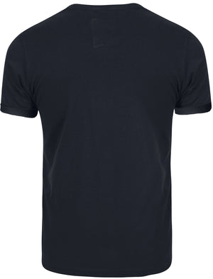 Freddy Destroyed Ripped Front T-Shirt in Navy