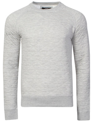 Mens Nicholas Triangle Quilt Sweatshirt in Grey Marl