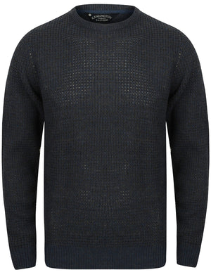 Mel Crew Neck Knitted Jumper in Charcoal Marl / Dark Denim – Kensington Eastside