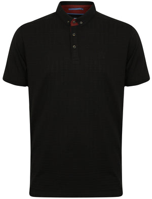 Atherstone Jacquard Jersey Polo Shirt in Black – Kensington Eastside