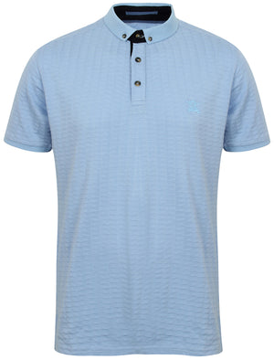 Atherstone Jacquard Jersey Polo Shirt in Placid Blue – Kensington Eastside
