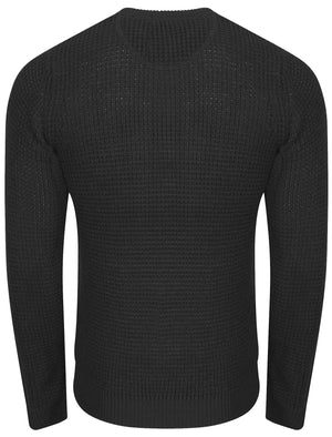 Auldhome Waffle Knit Jumper in Charcoal - Kensington Eastside
