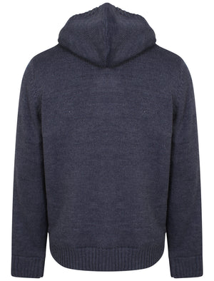 Burwell Heavy Knit Jacket in Midnight Blue Marl - Kensington Eastside