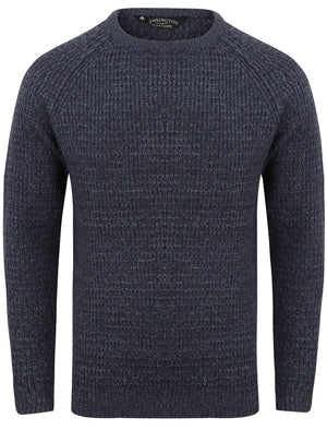 Camdale Waffle Knitted Jumper In Dark Navy / Blue – Kensington Eastside