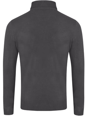 Craig Roll Neck Knitted Jumper in Charcoal - Kensington Eastside