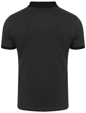Davidge Jacquard Cotton Polo Shirt in Black – Kensington Eastside