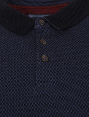 Jacquard Cotton Polo Shirt in Blue – Kensington Eastside