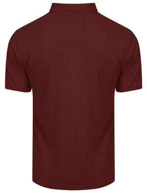 Eastmoor Jacquard Textured Stripe Polo Shirt in Port – Kensington Eastside