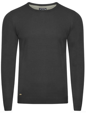Fredrikstad Crew Neck Jumper in Charcoal Marl - Kensington Eastside