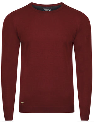 Fredrikstad Crew Neck Jumper in Oxblood – Kensington Eastside
