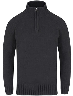 Haggs Zip Neck Chenille Pullover Jumper in Charcoal – Kensington Eastside