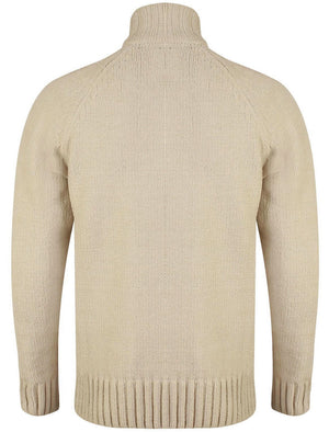 Haggs Zip Neck Chenille Pullover Jumper in Stone – Kensington Eastside