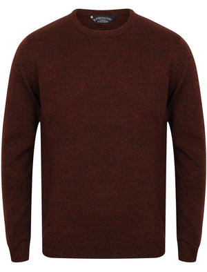 Hale Crew Neck Wool Blend Jumper In Black / Oxblood - Kensington Eastside