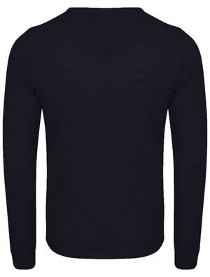 Hamar V Neck Jumper in Dark Navy – Kensington Eastside