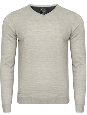 Hamar V Neck Jumper in Light Grey Marl – Kensington Eastside