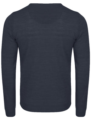 Hamar V Neck Jumper in Midnight Blue Marl – Kensington Eastside
