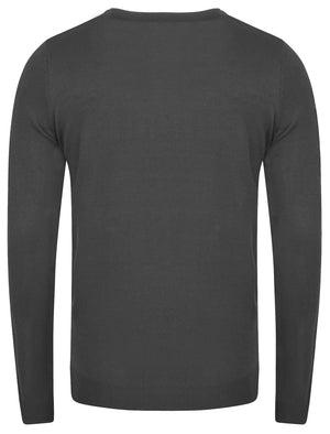 Henriks Cotton Knit Jumper in Charcoal – Kensington Eastside