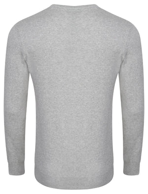 Henriks Cotton Knit Jumper in Light Grey Marl – Kensington Eastside