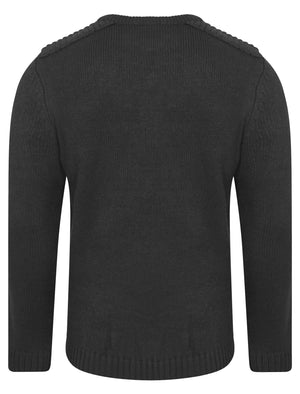 Minos Knitted Jumper in Charcoal Marl - Kensington Eastside