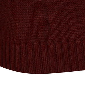 Minos Knitted Jumper in Oxblood – Kensington Eastside