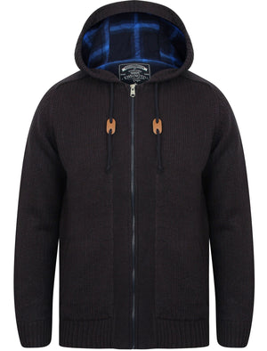 Raconteur Wool Blend Chunky Knit Coatigan in Dark Navy - Kensington Eastside