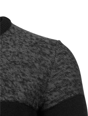 Scoughall Colour Block Knitted Jumper in Black – Kensington Eastside
