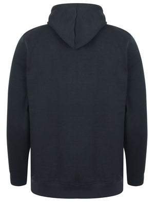 Kesler Brush Back Fleece Basic Zip Through Hoodie In Navy