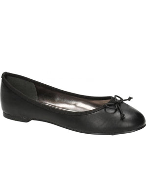 Esme Bow Trim Ballet Pumps in Black