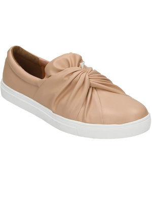 Casula Twist Vamp Slip On Plimsolls in Nude