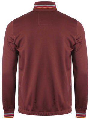 Le Shark Allcroft oxblood track jacket