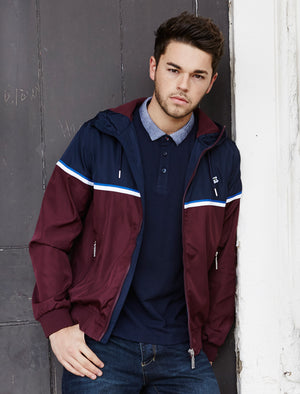 Le Shark Avory navy bomber jacket
