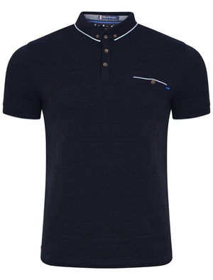 Camera Polo Shirt in True Navy - Le Shark
