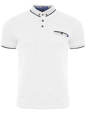Camera Polo Shirt in Optic White - Le Shark