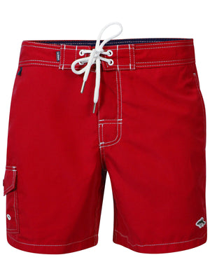 Juanita Swim Shorts in Firebrick Red – Le Shark