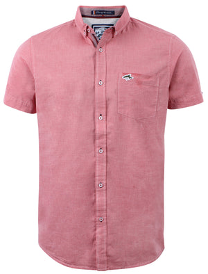 Le Shark Brayford red cotton shirt