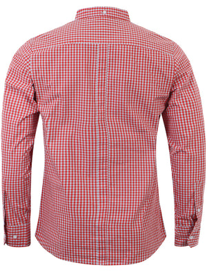 Le Shark Hampstead cotton shirt in Spiced Coral
