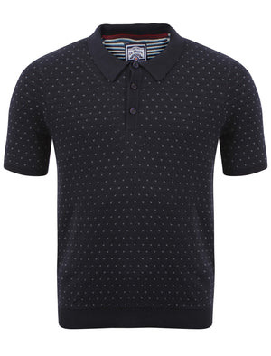 Le Shark Joseph Navy Knitted Polo