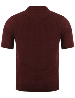 Le Shark Joseph Oxblood Knitted Polo