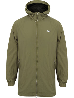 Limekiln Zip Through Anorak Jacket in Olive Green – Le Shark