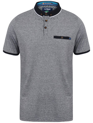 Elgood Feeder Stripe Jersey Polo Shirt in True Navy - Le Shark