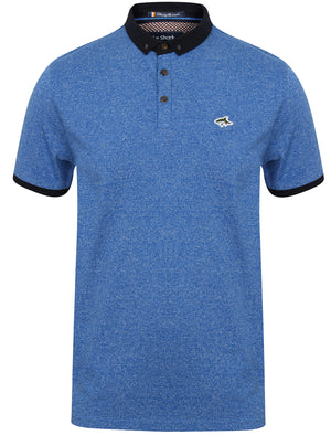 Ellsworth Flecked Cotton Jersey Polo Shirt in Vespa Blue – Le Shark